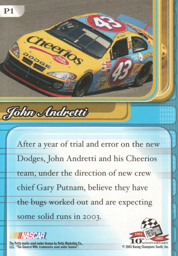 2003-Press-Pass-Premium-Parallels-NASCAR-Racing-Cards-Pick-From-List thumbnail 3