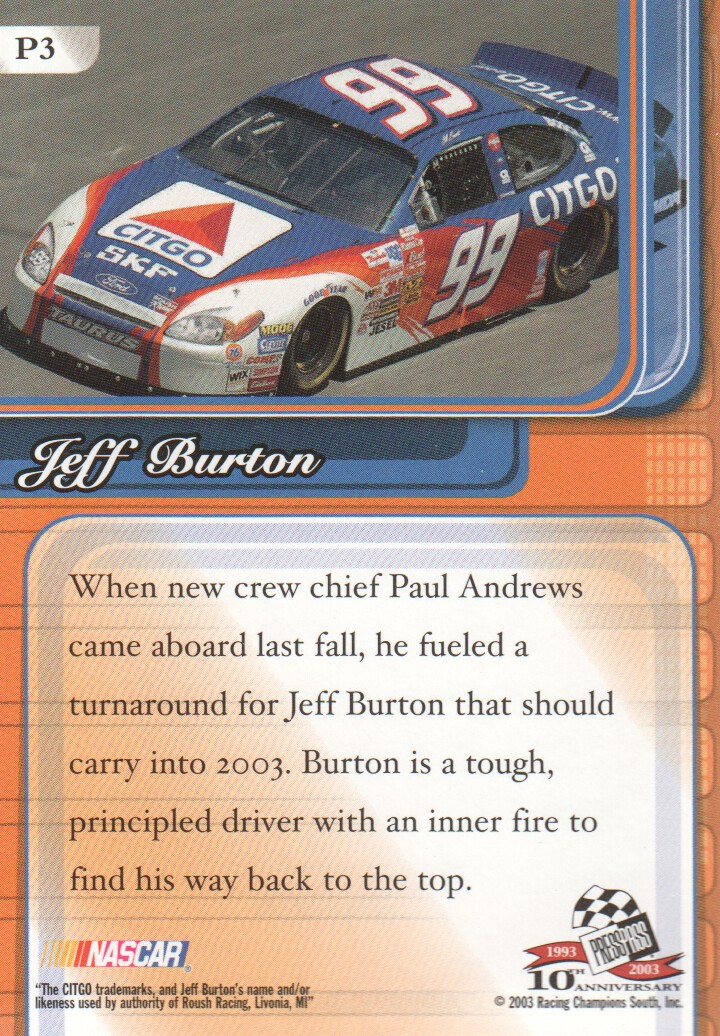 2003-Press-Pass-Premium-Parallels-NASCAR-Racing-Cards-Pick-From-List thumbnail 5
