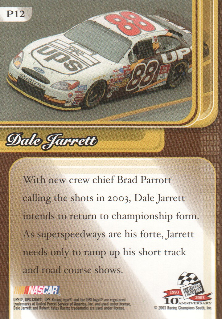 2003-Press-Pass-Premium-Parallels-NASCAR-Racing-Cards-Pick-From-List thumbnail 11