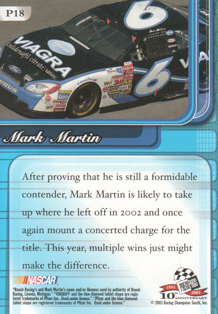 2003-Press-Pass-Premium-Parallels-NASCAR-Racing-Cards-Pick-From-List thumbnail 21