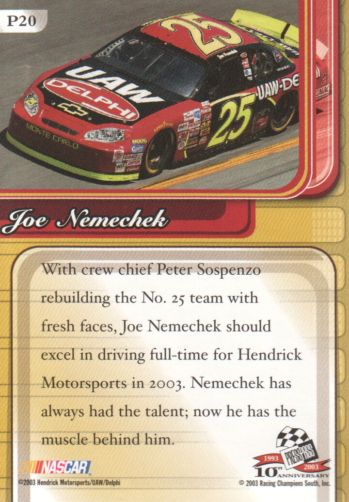 2003-Press-Pass-Premium-Parallels-NASCAR-Racing-Cards-Pick-From-List thumbnail 23