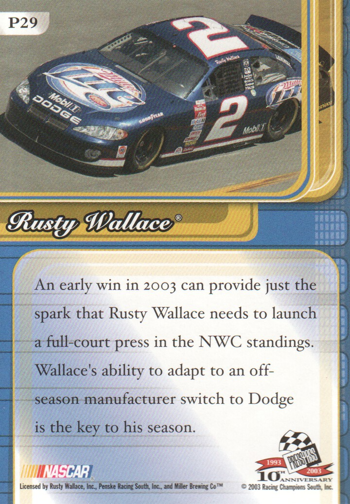 2003-Press-Pass-Premium-Parallels-NASCAR-Racing-Cards-Pick-From-List thumbnail 35