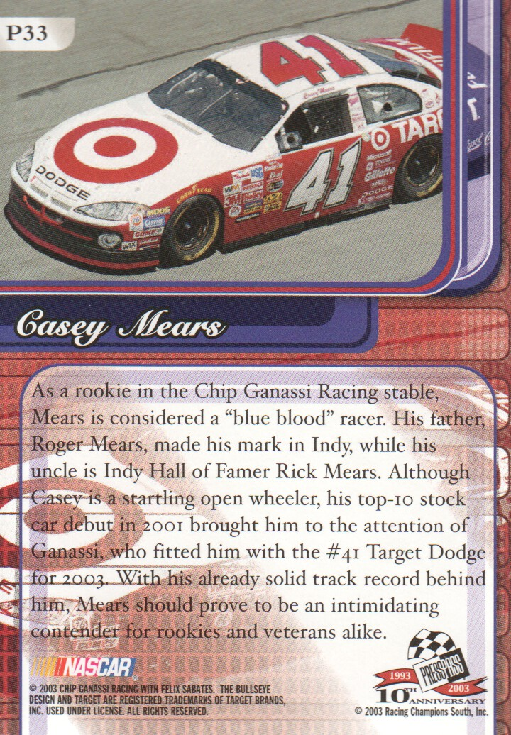 2003-Press-Pass-Premium-Parallels-NASCAR-Racing-Cards-Pick-From-List thumbnail 37