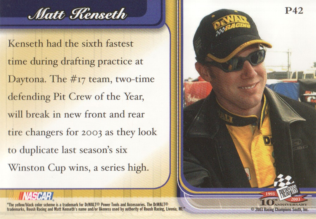 2003-Press-Pass-Premium-Parallels-NASCAR-Racing-Cards-Pick-From-List thumbnail 49
