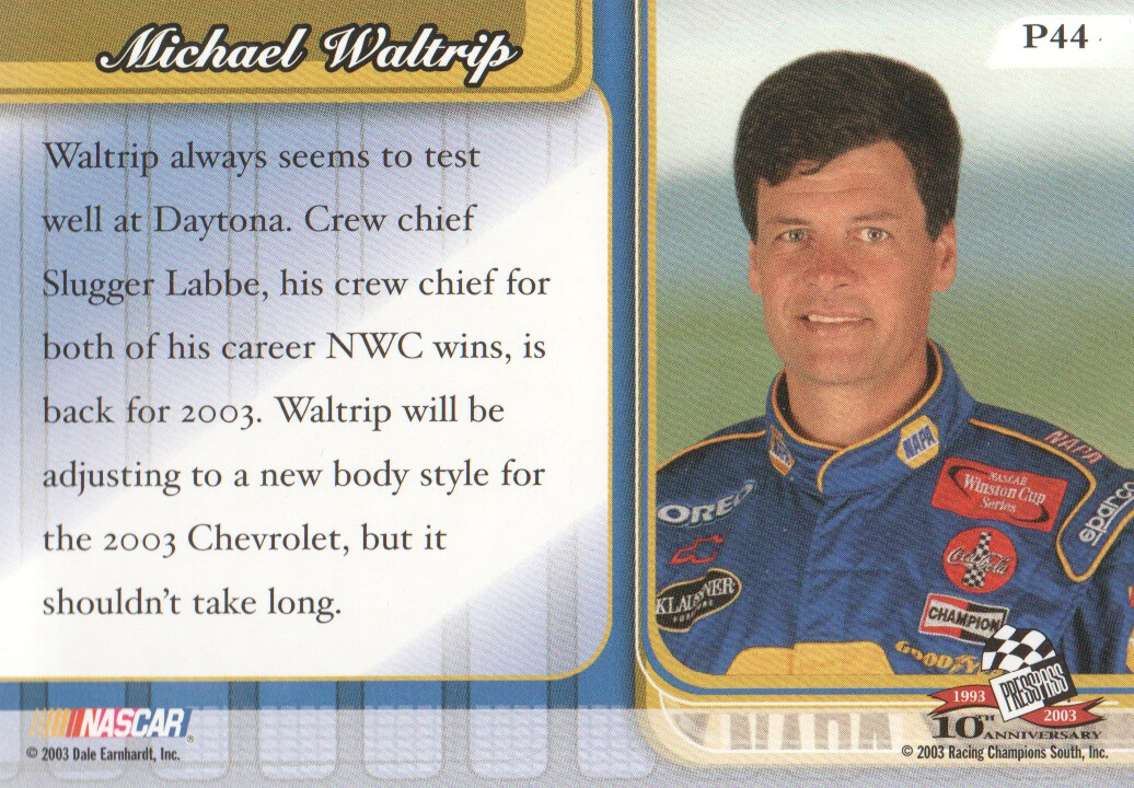 2003-Press-Pass-Premium-Parallels-NASCAR-Racing-Cards-Pick-From-List thumbnail 51