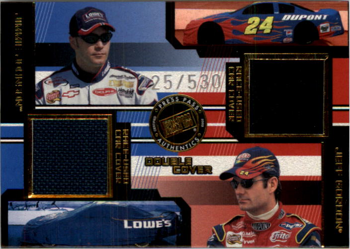 2003 Press Pass Eclipse Under Cover Double Cover #DC2 Jimmie Johnson/Jeff Gordon