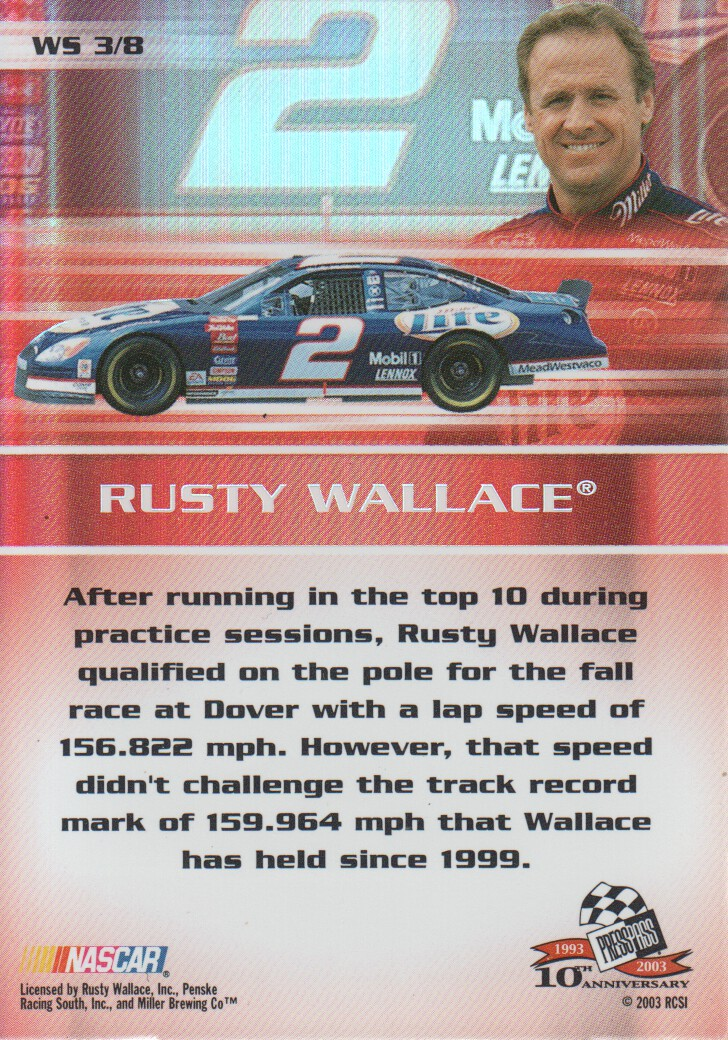 2003-Press-Pass-Eclipse-Inserts-NASCAR-Racing-Cards-Pick-From-List thumbnail 57