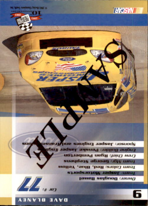 2003-Press-Pass-Racing-Eclipse-Stealth-Inserts-You-Pick-Buy-10-cards-FREE-SHIP thumbnail 353