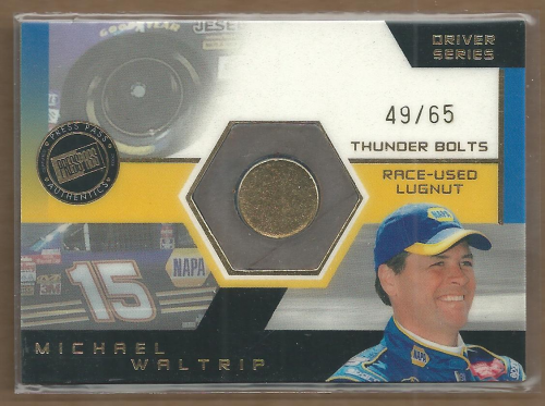 2003 Press Pass Optima Thunder Bolts Drivers #TBD18 Michael Waltrip/65
