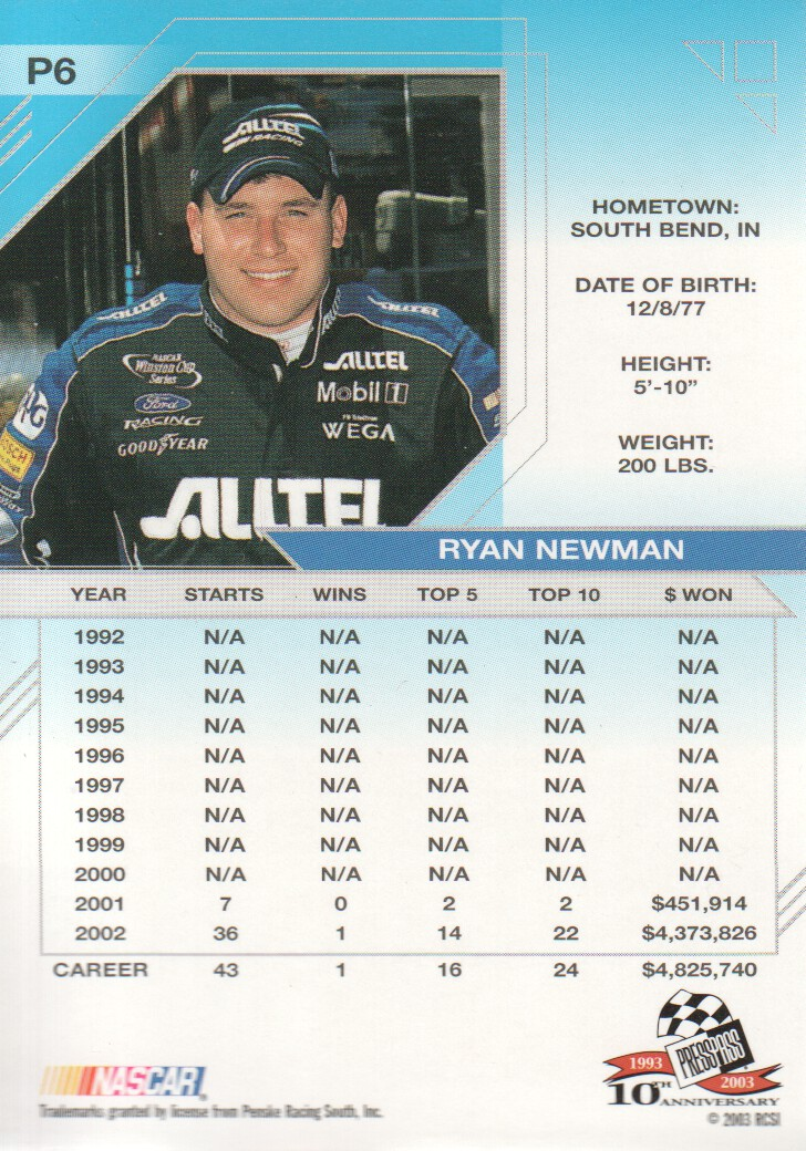 2003-Press-Pass-Eclipse-Parallels-NASCAR-Racing-Cards-Pick-From-List thumbnail 9