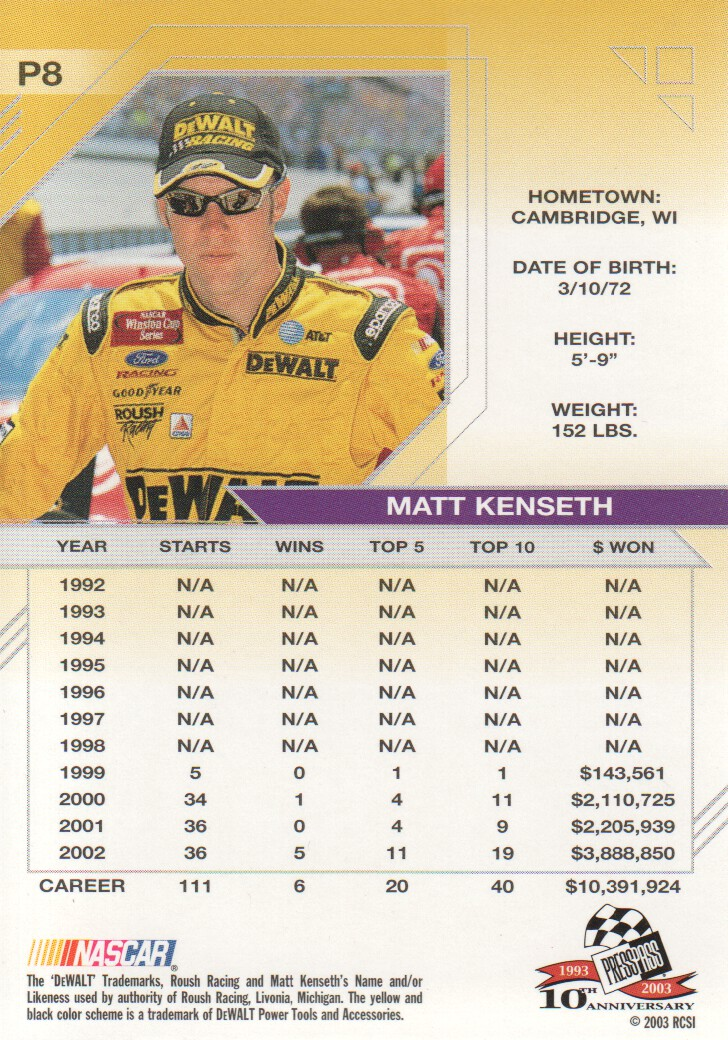 2003-Press-Pass-Eclipse-Parallels-NASCAR-Racing-Cards-Pick-From-List thumbnail 13
