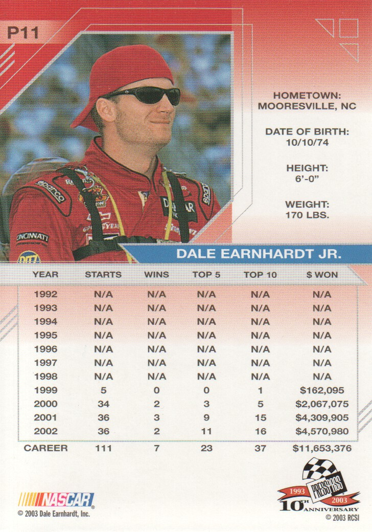 2003-Press-Pass-Eclipse-Parallels-NASCAR-Racing-Cards-Pick-From-List thumbnail 15