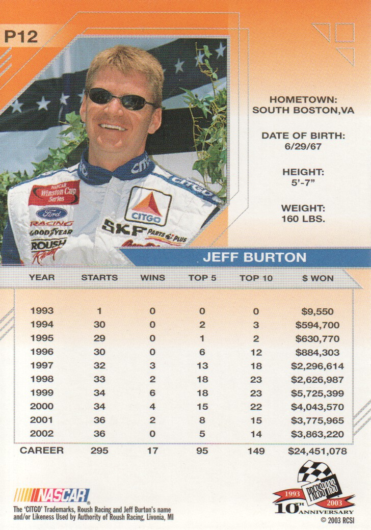 2003-Press-Pass-Eclipse-Parallels-NASCAR-Racing-Cards-Pick-From-List thumbnail 17