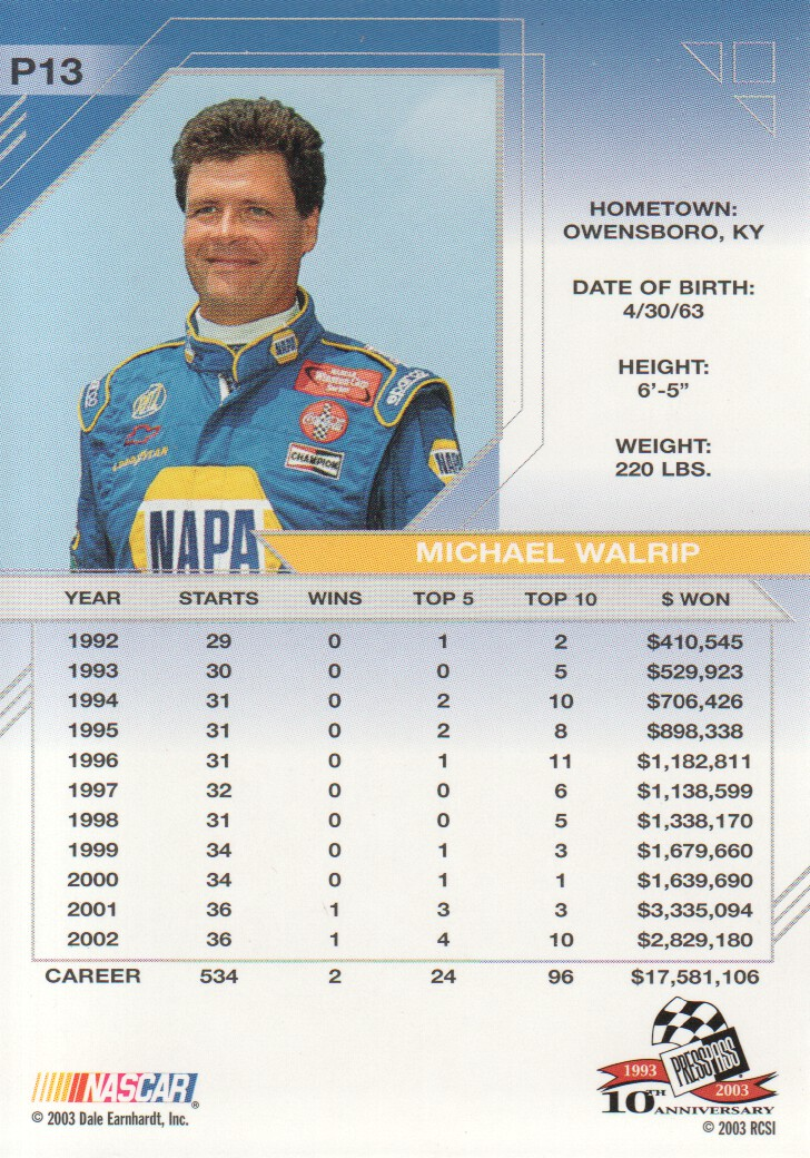 2003-Press-Pass-Eclipse-Parallels-NASCAR-Racing-Cards-Pick-From-List thumbnail 19
