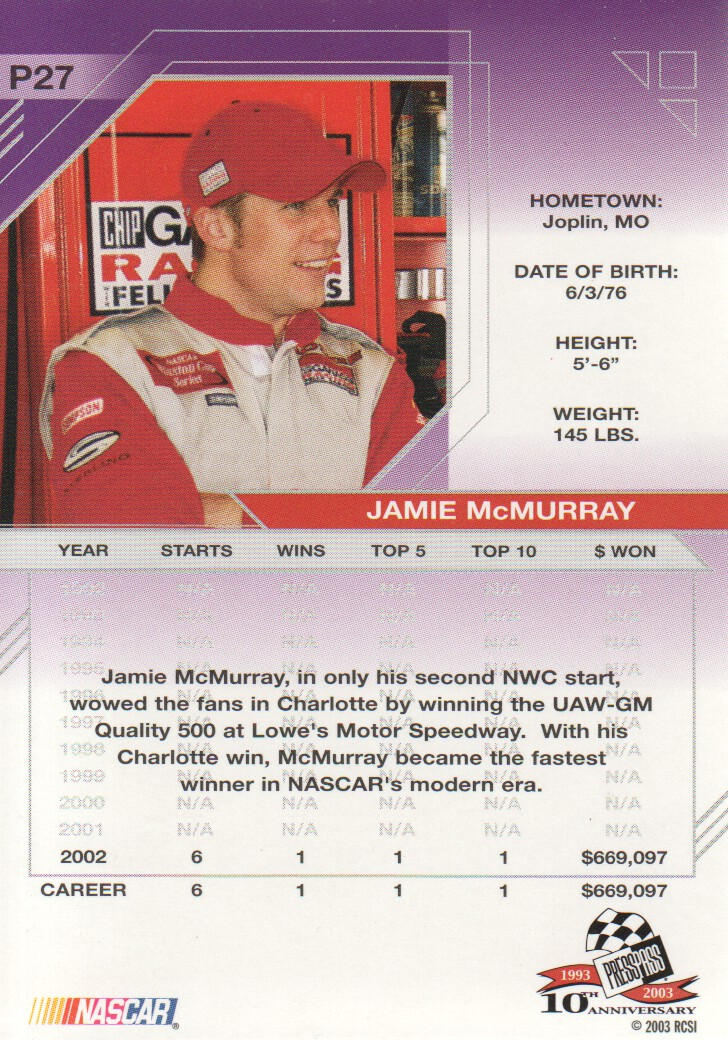 2003-Press-Pass-Eclipse-Parallels-NASCAR-Racing-Cards-Pick-From-List thumbnail 39