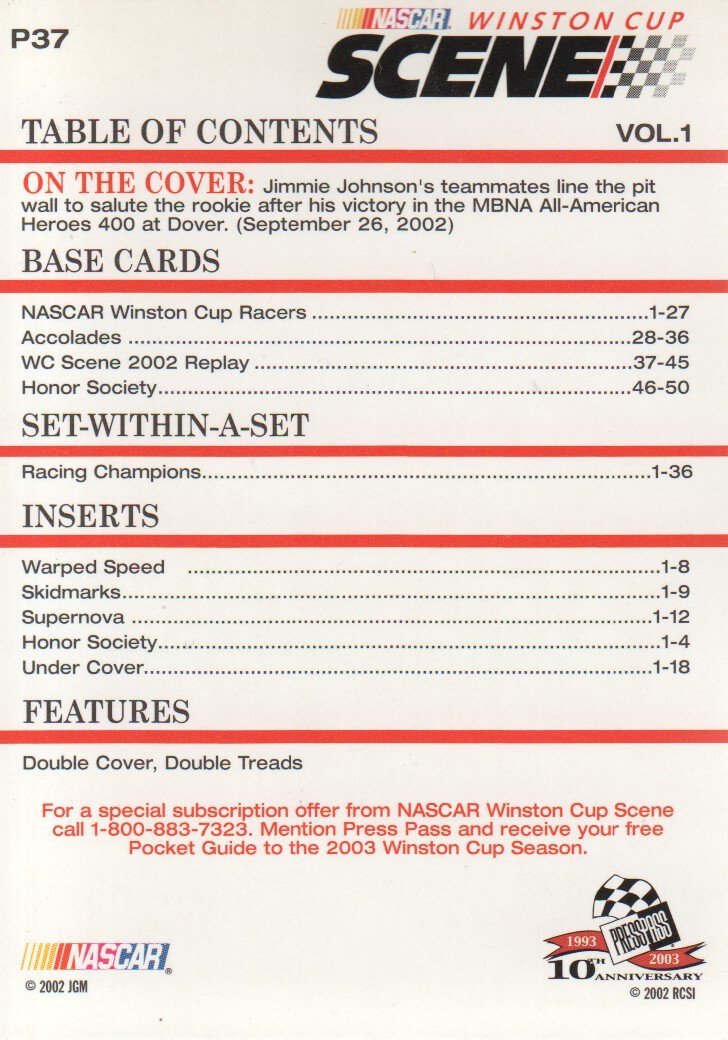 2003-Press-Pass-Eclipse-Parallels-NASCAR-Racing-Cards-Pick-From-List thumbnail 51