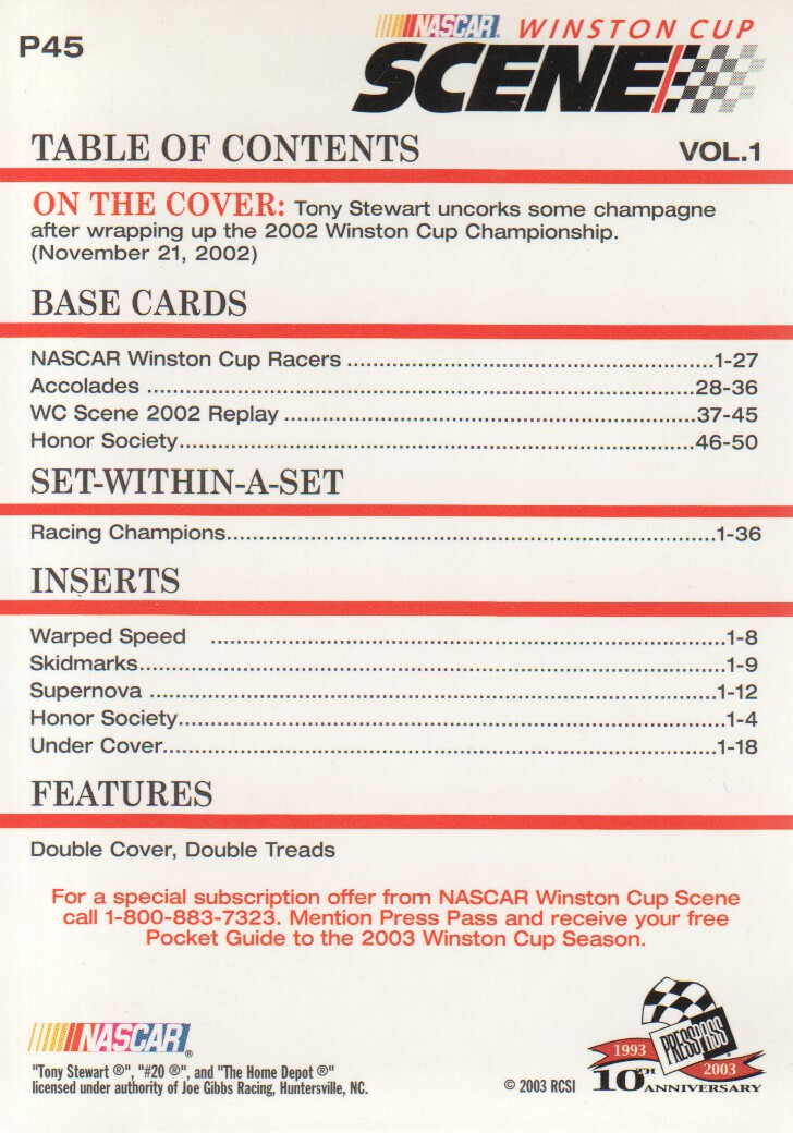 2003-Press-Pass-Eclipse-Parallels-NASCAR-Racing-Cards-Pick-From-List thumbnail 59