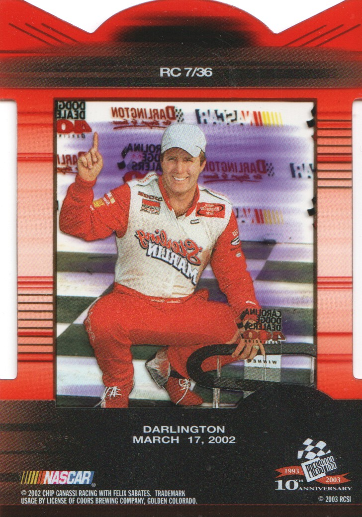 2003-Press-Pass-Eclipse-Inserts-NASCAR-Racing-Cards-Pick-From-List thumbnail 7