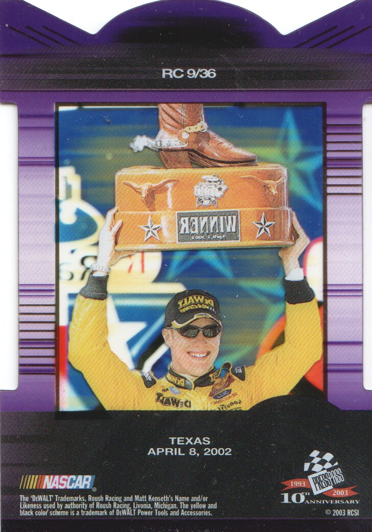 2003-Press-Pass-Eclipse-Inserts-NASCAR-Racing-Cards-Pick-From-List thumbnail 11
