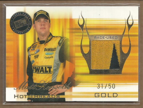 2004 Press Pass Premium Hot Threads Drivers Gold #HTD2 Matt Kenseth