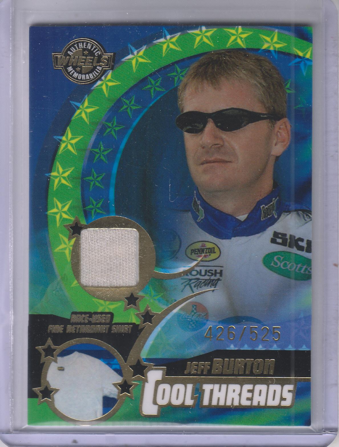 2004 Wheels American Thunder Cool Threads #CT1 Jeff Burton