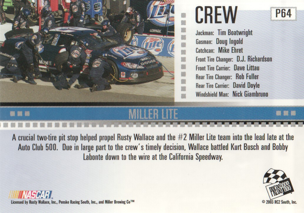 2004-Press-Pass-Parallels-NASCAR-Racing-Cards-Pick-From-List thumbnail 47