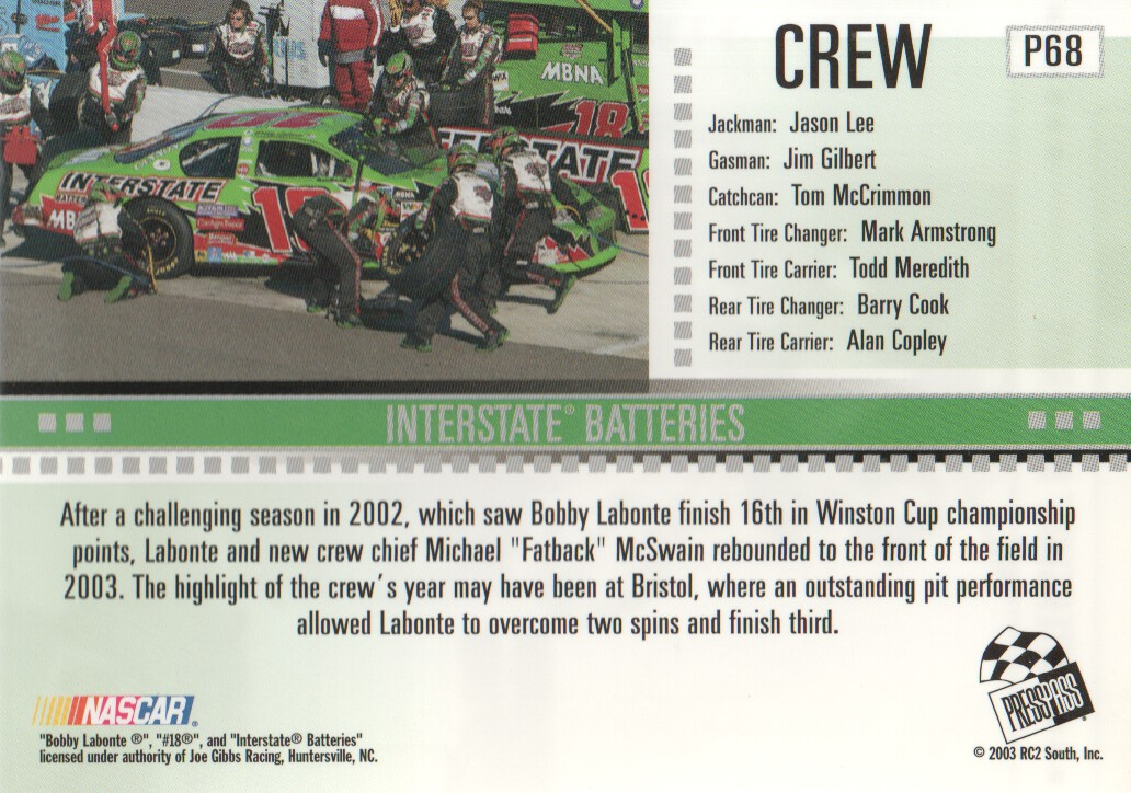 2004-Press-Pass-Parallels-NASCAR-Racing-Cards-Pick-From-List thumbnail 55