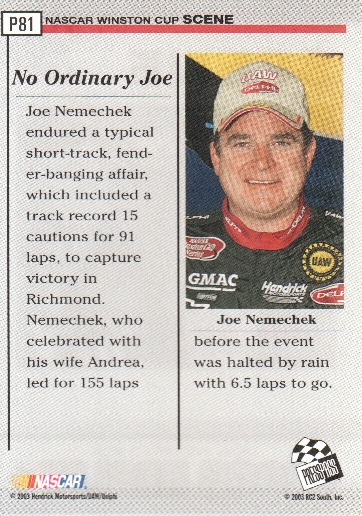 2004-Press-Pass-Parallels-NASCAR-Racing-Cards-Pick-From-List thumbnail 67