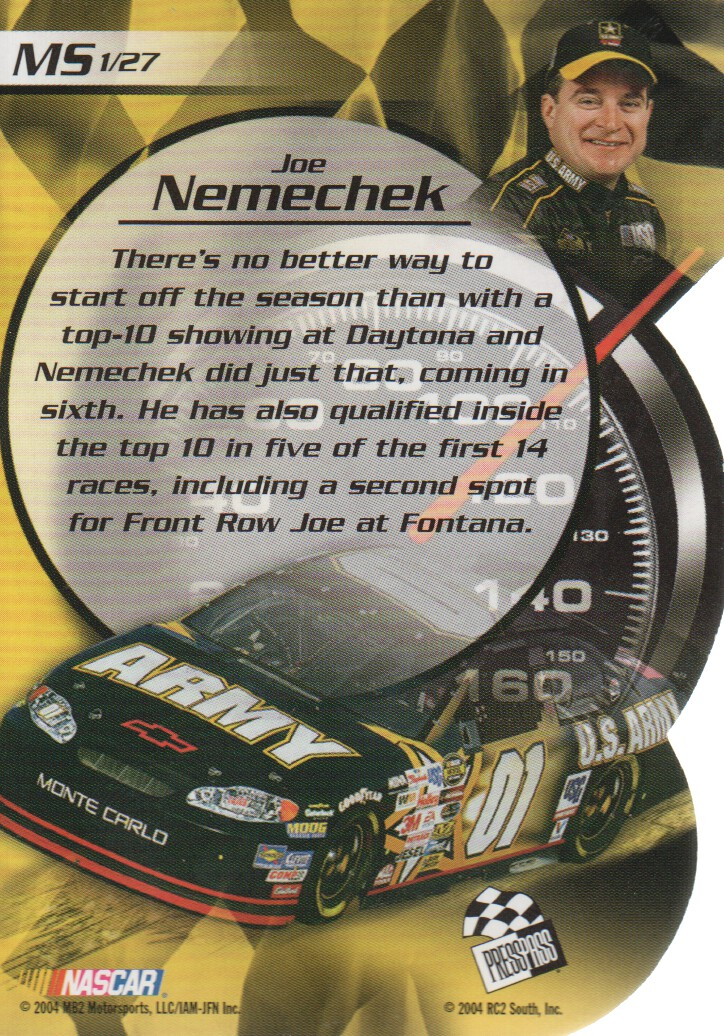 2004-VIP-Inserts-NASCAR-Racing-Cards-Pick-From-List thumbnail 21