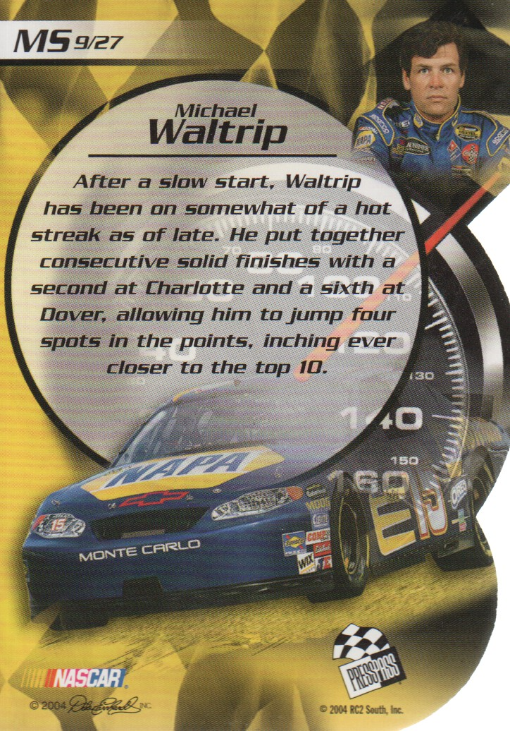 2004-VIP-Inserts-NASCAR-Racing-Cards-Pick-From-List thumbnail 29