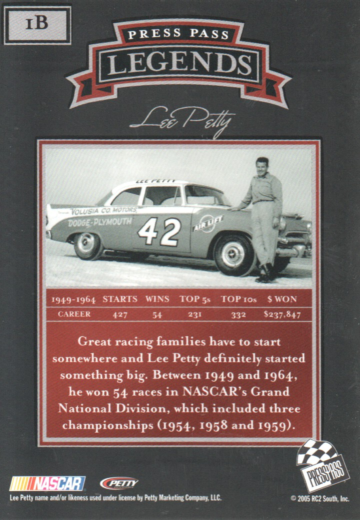 2005-Press-Pass-Legends-Parallels-NASCAR-Racing-Cards-Pick-From-List thumbnail 3