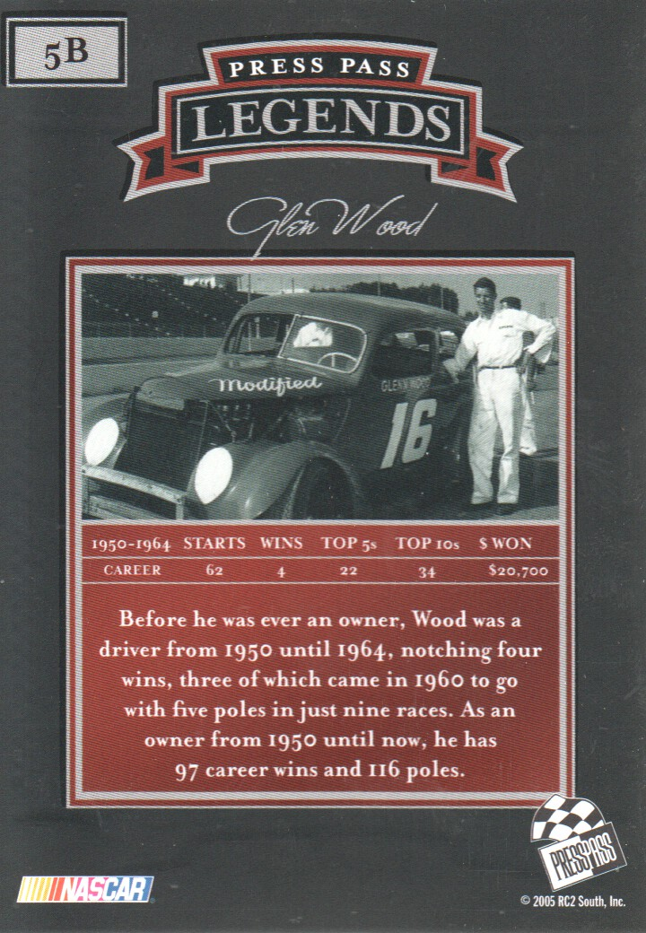 2005-Press-Pass-Legends-Parallels-NASCAR-Racing-Cards-Pick-From-List thumbnail 7