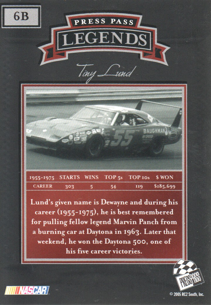 2005-Press-Pass-Legends-Parallels-NASCAR-Racing-Cards-Pick-From-List thumbnail 9