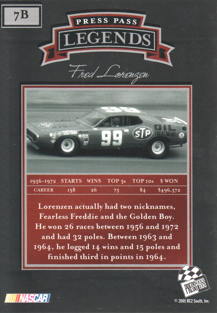 2005-Press-Pass-Legends-Parallels-NASCAR-Racing-Cards-Pick-From-List thumbnail 11