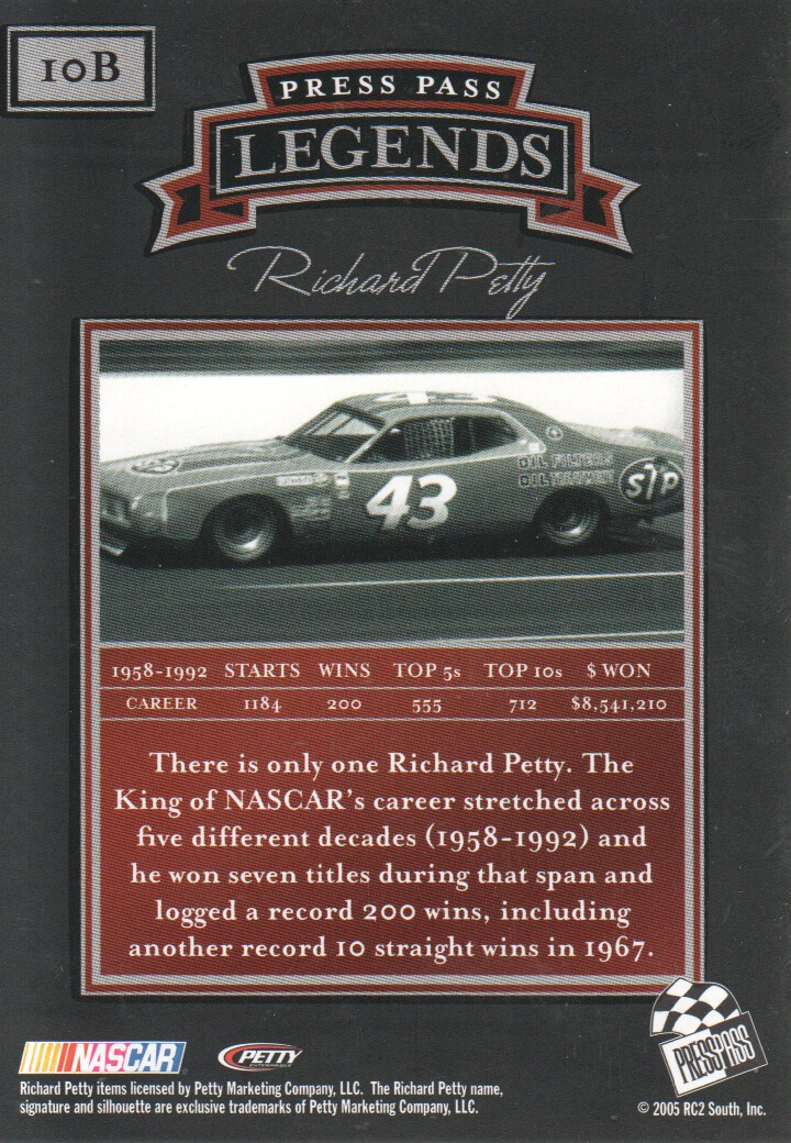 2005-Press-Pass-Legends-Parallels-NASCAR-Racing-Cards-Pick-From-List thumbnail 13