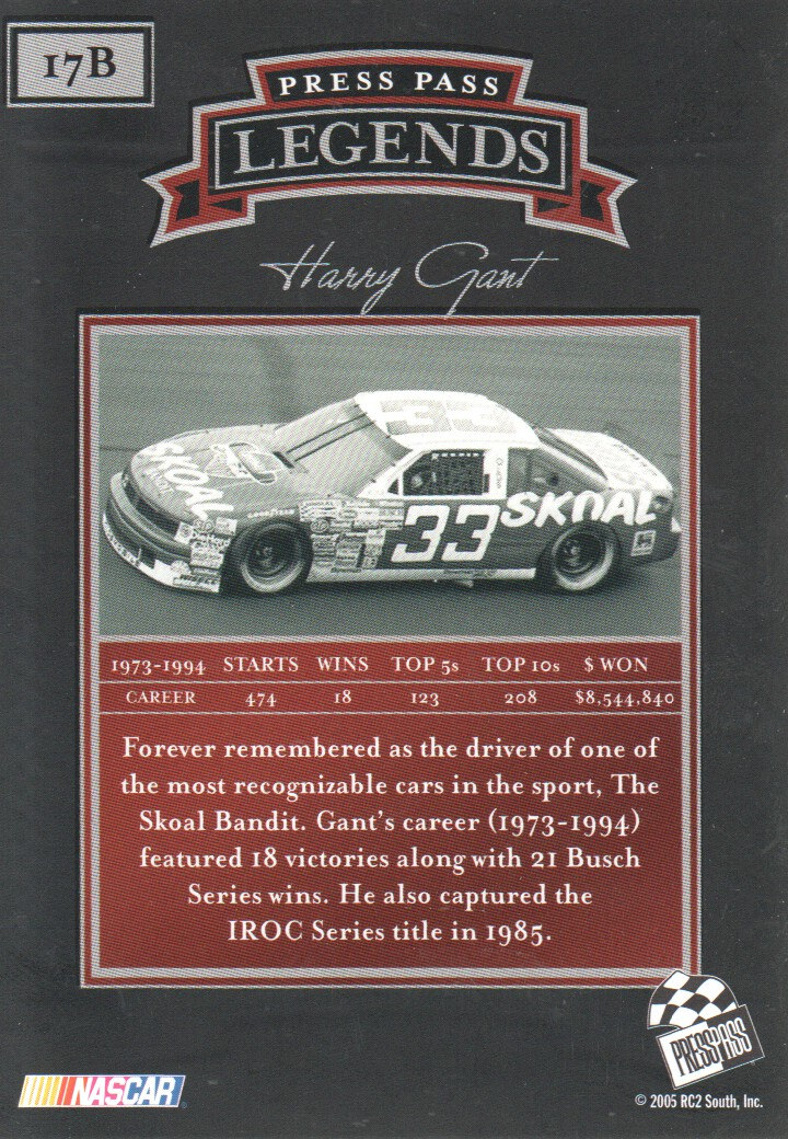 2005-Press-Pass-Legends-Parallels-NASCAR-Racing-Cards-Pick-From-List thumbnail 19