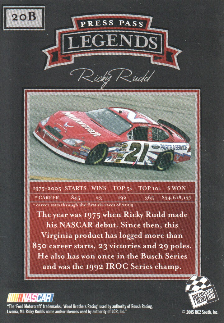 2005-Press-Pass-Legends-Parallels-NASCAR-Racing-Cards-Pick-From-List thumbnail 21