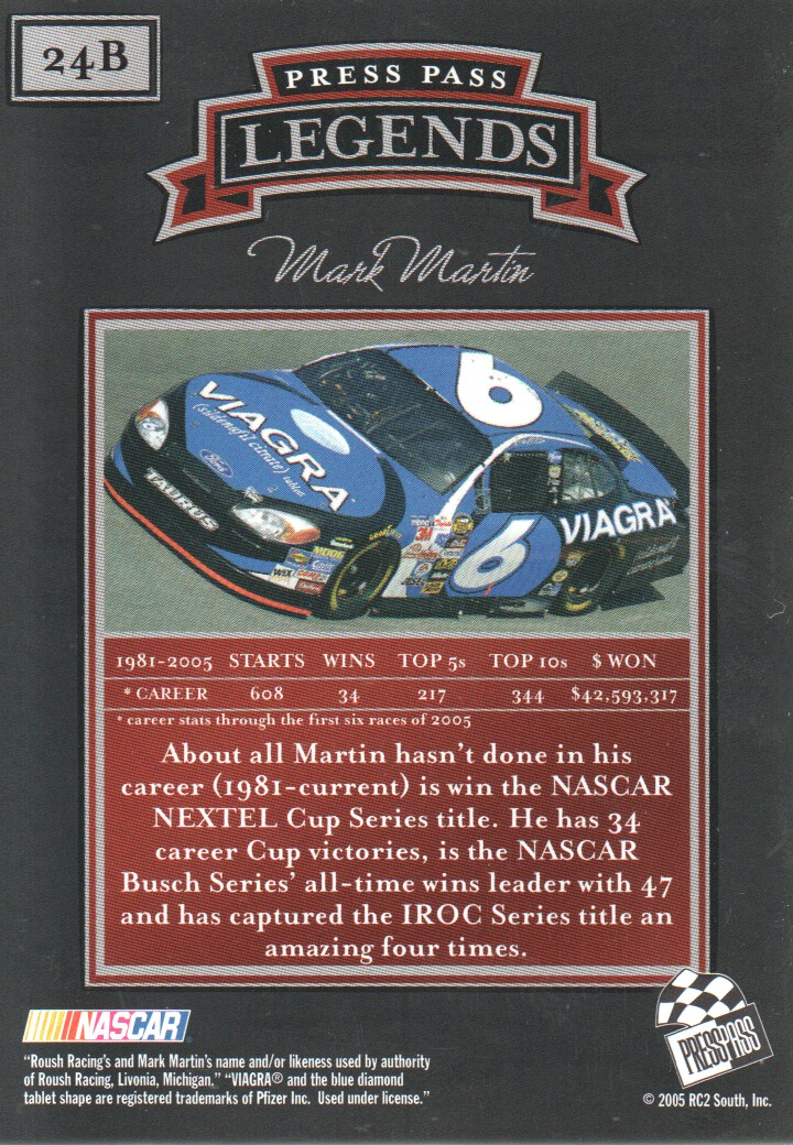 2005-Press-Pass-Legends-Parallels-NASCAR-Racing-Cards-Pick-From-List thumbnail 23