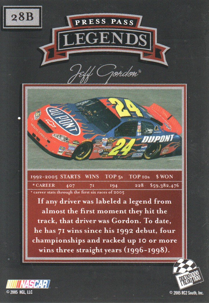 2005-Press-Pass-Legends-Parallels-NASCAR-Racing-Cards-Pick-From-List thumbnail 25