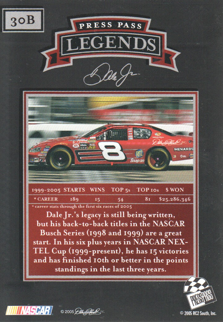 2005-Press-Pass-Legends-Parallels-NASCAR-Racing-Cards-Pick-From-List thumbnail 27