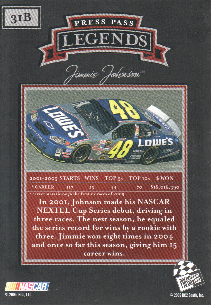2005-Press-Pass-Legends-Parallels-NASCAR-Racing-Cards-Pick-From-List thumbnail 29