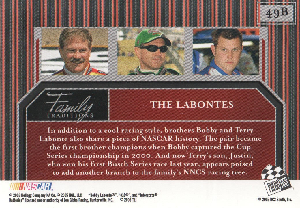 2005-Press-Pass-Legends-Parallels-NASCAR-Racing-Cards-Pick-From-List thumbnail 37