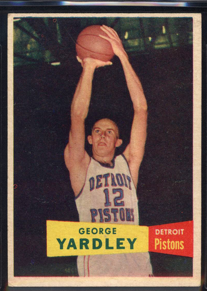 1957-58 Topps #2 George Yardley DP RC
