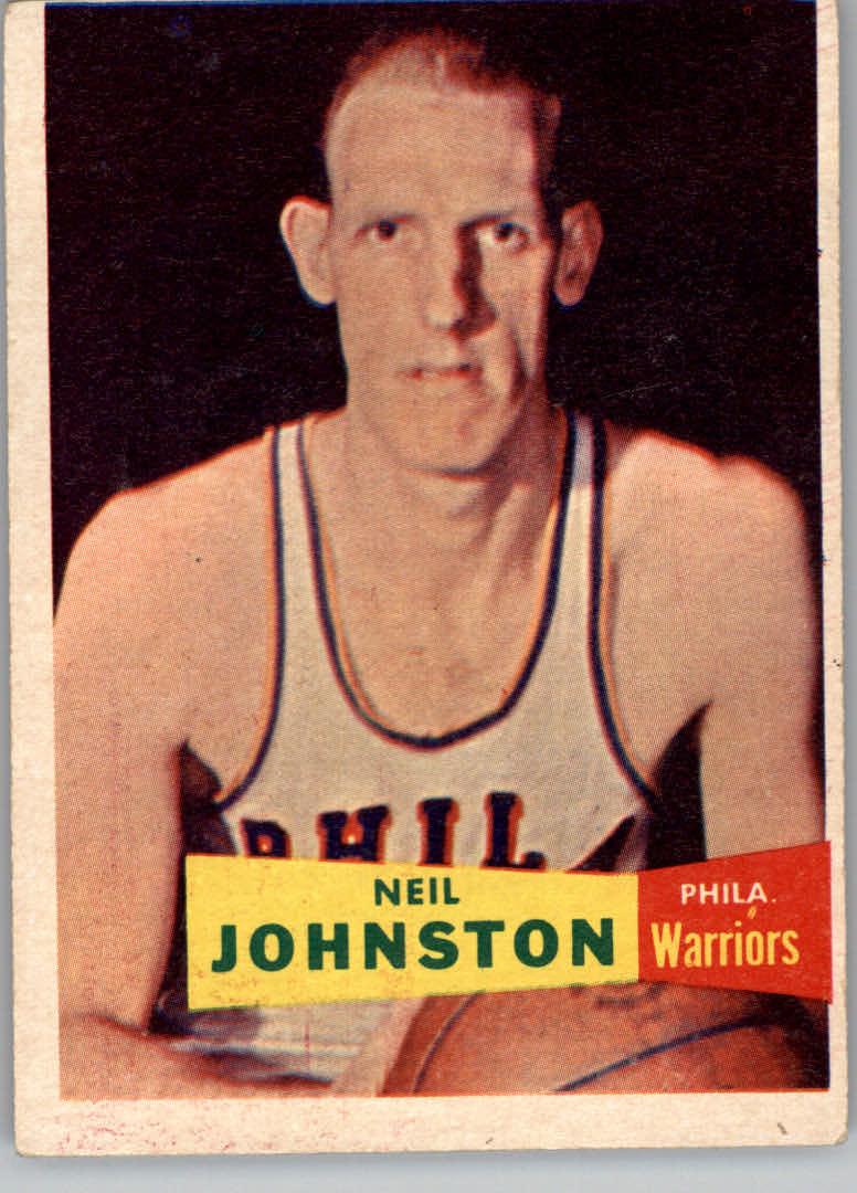 1957-58 Topps #3 Neil Johnston DP RC