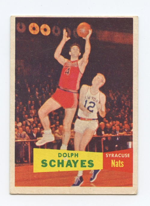 1957-58 Topps #13 Dolph Schayes DP RC