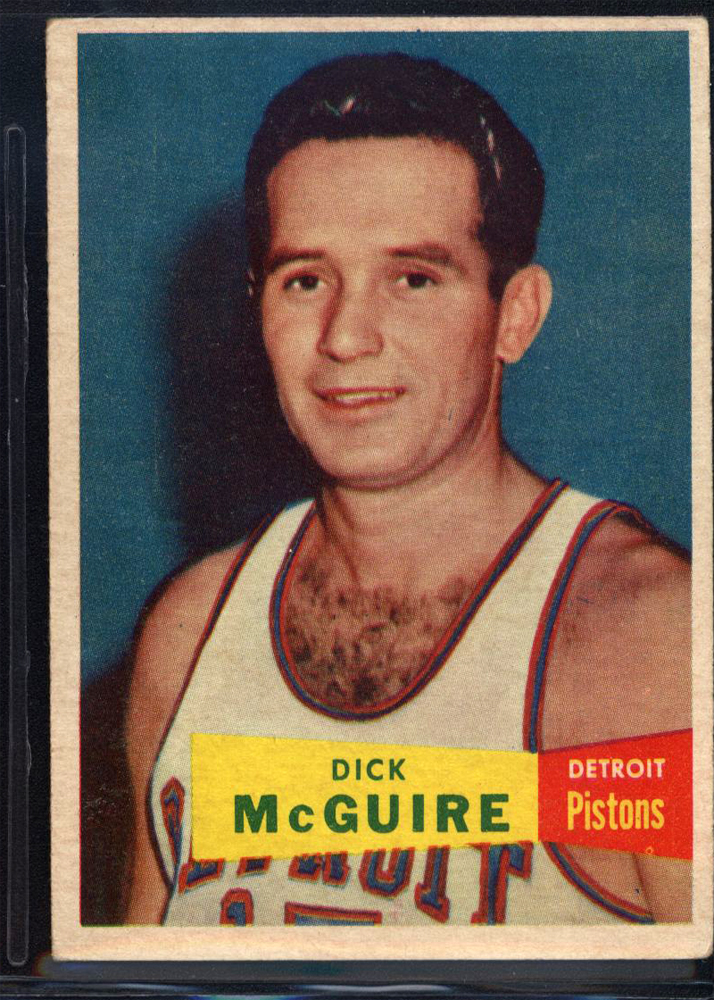 1957-58 Topps #16 Dick McGuire DP RC