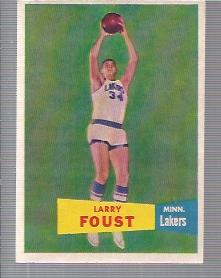 1957-58 Topps #18 Larry Foust DP RC