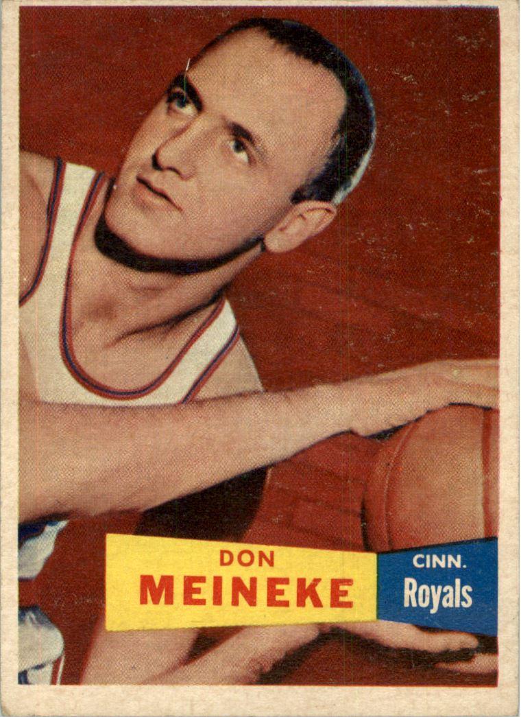1957-58 Topps #21 Don Meineke DP RC