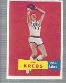 1957-58 Topps #25 Jim Krebs DP RC