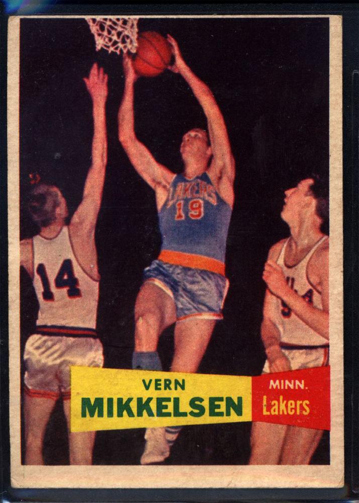 1957-58 Topps #28 Vern Mikkelsen RC